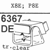 A.K.G.x8 E Stylus, diamond, elliptical