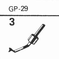 ACOS GP-29 Stylus, diamond, stereo