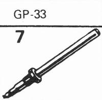 ACOS GP-33 Stylus, diamond, stereo