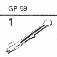 ACOS GP-59 Stylus, Diamond, normal (78rpm)