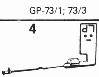 ACOS GP-73/1, 73/3 Stylus, sapphire normal (78rpm) + sapphir