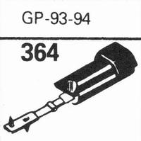 ACOS GP-93/94 Stylus, sapphire normal (78rpm) + sapphire ste