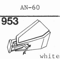 AIWA AN-60 Stylus, diamond, stereo