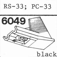 AKAI RS-33 BLACK ELLIPTICAL Stylus, diamond, elliptical