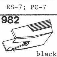 AKAI RS-7, PC-7 Black Stylus, diamond, stereo