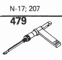 ASTATIC N-17, 207 Stylus, sapphire normal (78rpm) + sapphire