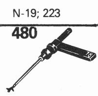 ASTATIC N-19, 223 Stylus, sapphire normal (78rpm) + sapphire