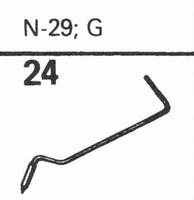 ASTATIC N-29 G78 RPM SAPPH. Stylus, SN<br />Price per piece