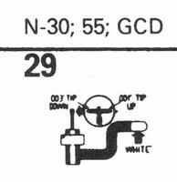 ASTATIC N-30, 55, GCD Stylus, sapphire normal (78rpm) + sapp