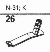 ASTATIC N-31, K Stylus, diamond, stereo