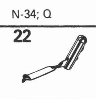 ASTATIC N-34, Q Stylus, diamond, stereo