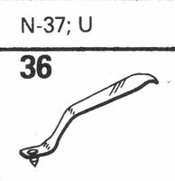 ASTATIC N-37, U Stylus, diamond, stereo