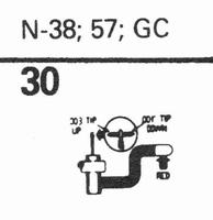 ASTATIC N-38, 57, GC Stylus, sapphire normal (78rpm) + sapph