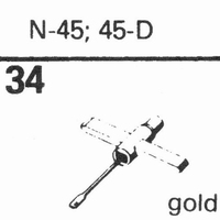 ASTATIC N-45, 45-D Stylus, diamond, stereo