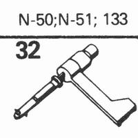 ASTATIC N-50, 51, 133 Stylus, sapphire stereo + diamond ster