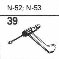 ASTATIC N-52, N-53 Stylus, sapphire normal (78rpm) + sapphir