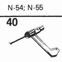 ASTATIC N-54, N-55 Stylus, sapphire normal (78rpm) + sapphir