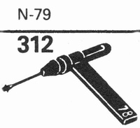 ASTATIC N-79 Stylus, sapphire normal (78rpm) + sapphire ster