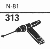 ASTATIC N-81 Stylus, sapphire normal (78rpm) + sapphire ster