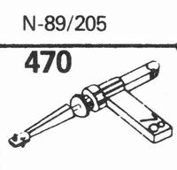 ASTATIC N-89, 205 Stylus, sapphire normal (78rpm) + sapphire