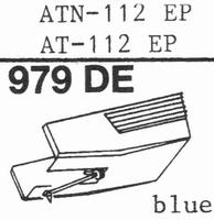 AUDIO TECHNICA AT-112 EP BLUE Stylus, diamond, elliptical