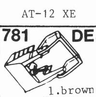 AUDIO TECHNICA AT-12xE Stylus, diamond, elliptical