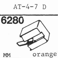 AUDIO TECHNICA AT-4-7 D ORANGE Stylus, diamond, stereo