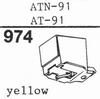 AUDIO TECHNICA AT-91, 93 Stylus, diamond, stereo, original