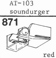 AUDIO TECHNICA ATN-103 Stylus, diamond, stereo
