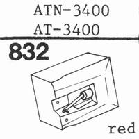 AUDIO TECHNICA ATN-3400 Stylus, diamond, stereo