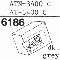 AUDIO TECHNICA ATN-3400 C  Stylus, diamond, stereo