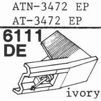 AUDIO TECHNICA ATN-3472 EP Stylus, diamond, elliptical