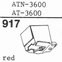 AUDIO TECHNICA ATN-3600 RED Stylus, diamond, stereo