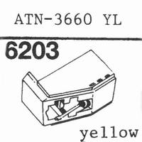 AUDIO TECHNICA ATN-3660 YL Stylus, diamond, stereo, original