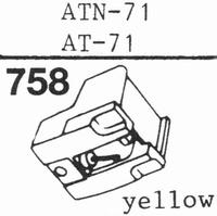 AUDIO TECHNICA ATN-71 Stylus, diamond, stereo