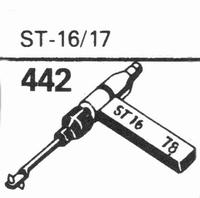 B.S.R. ST-16/17 Stylus, sapphire normal (78rpm) + sapphire s