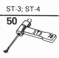 B.S.R. ST-3, ST-4 Stylus, sapphire normal (78rpm) + sapphire