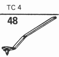 B.S.R. TC-4 Stylus, diamond, stereo