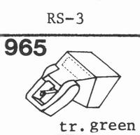 C.E.C. RS-3 TR.GREEN Stylus, diamond, stereo
