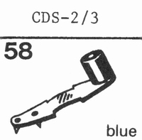 DUAL CDS 2/3 Stylus, sapphire normal (78rpm) + sapphire ster