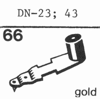 DUAL DN-23, Diamond, normal (78rpm) -43 Stylus, diamond, ste
