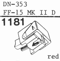 DUAL DN-353, ORT. NF-15 D MK 2 Stylus<br />Price per piece