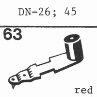 DUAL DN-45 W/ 78 RPM DIAMOND Stylus, Diamond, normal (78rpm)