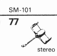 ELAC SM-101 Stylus, diamond, stereo