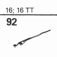 ELECTRO-VOICE 16, 16 TT Stylus, SN/DS