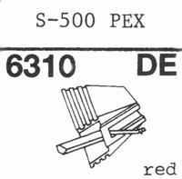EMPIRE 500 PEX Nadel, Diamant, elliptisch