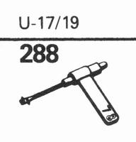 EUPHONICS U-17/19 Stylus, sapphire normal (78rpm) + sapphire