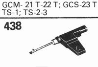 GARRARD GCM-21 T/22 T Stylus, sapphire normal (78rpm) + sapp