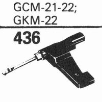 GARRARD GCM-21-22, GKM-22 Stylus, sapphire normal (78rpm) +