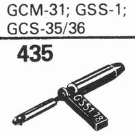 GARRARD GCM-31, GCS-1, 35, 36 Stylus, sapphire normal (78rpm
